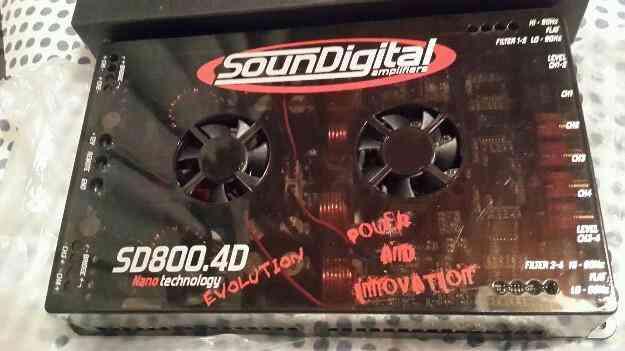 Potencia Nano Soundigital 800 rms 4 canales, Posadas